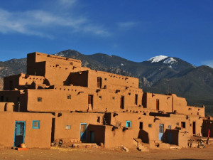 Taos Pueblos near Inn on La Loma Plaza.