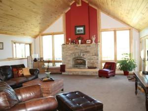 Cabin living room at Galloup's Slide Inn.