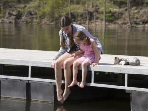 Swimming dock at Stonewater Cove Resort.