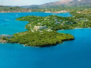 Aerial view of Grecotel Daphnila Bay.