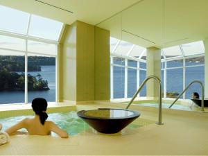 Indoor pool at JW Marriott The Rosseau Muskoka Resort & Spa.
