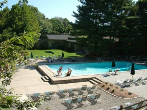 Outdoor pool at The Heritage Hotel.