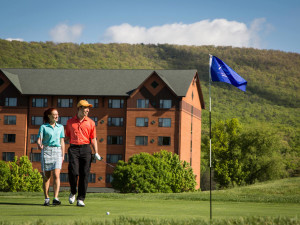 Round of golf at Rocky Gap Casino Resort.