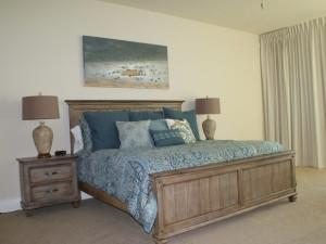 Rental bedroom at Gulf Beach Rentals.