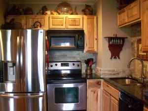 Rental kitchen at Sugar Ski and Country Club.