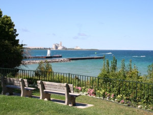 Lake Michigan at Weathervane Terrace Inn and Suites.