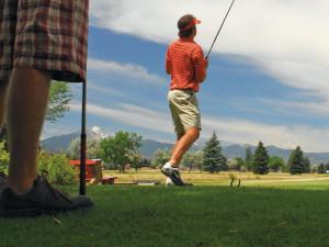 Golfing at Mt. Princeton Hot Springs Resort.