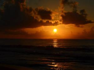 Beach sunset at Oceano Beach Resort.
