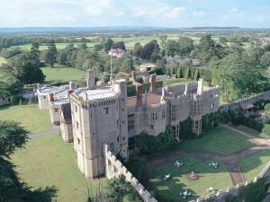 Aerial view of Thornbury Castle.