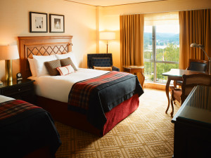 Guest room at Fairmont Tremblant Resort.