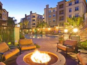 Vacation rental patio at Oakwood Worldwide Archstone Playa del Rey.