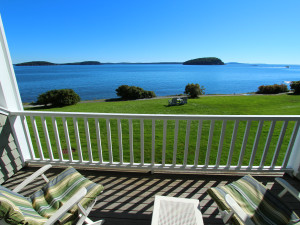 Balcony view at Bar Harbor Inn & Spa.