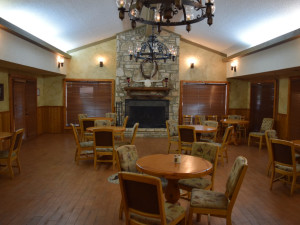 Dining room at Flying L Guest Ranch.