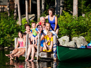 Family at Rockywold-Deephaven Camps.
