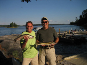 Fishing at Ballard's Black Island.