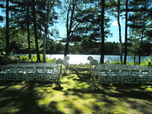 Outdoor wedding at Sherwood Inn.