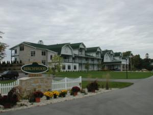 Exterior of Birchwood Lodge.