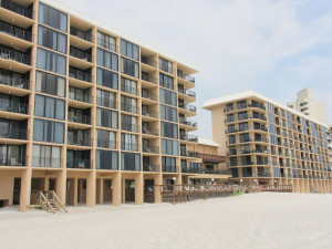 Exterior view of Ocean Towers Beach Club.