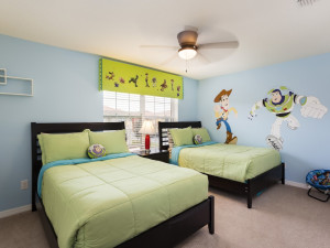 Rental bedroom room at Orlando Luxury Escapes Vacation Rentals.