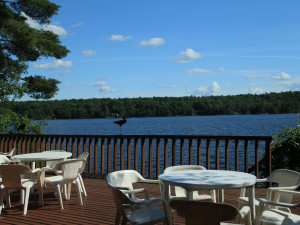 Patio view at Westwind Inn on the Lake.