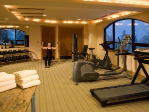 Exercise room at Edelweiss Lodge.