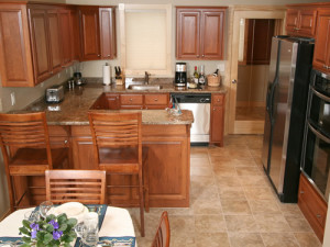Villa kitchen at Cobblestone Cove Villas.