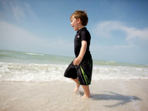 Playing on the beach at Gulfview Manor Resort.