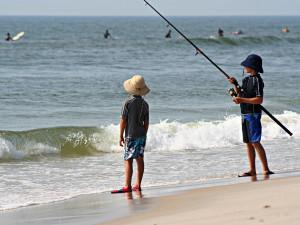 Fishing near Sea Hawk Motel.
