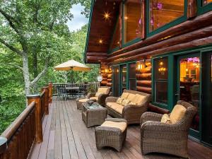Cabin deck at Smoky Mountain Getaways.