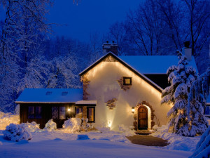 Winter time at Glenlaurel Inn.