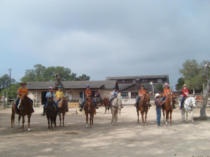 Horseback riding at Silver Spur Ranch.