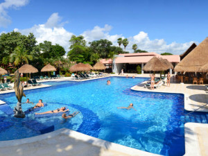 Outdoor pool at RIU Lupita-All Inclusive.