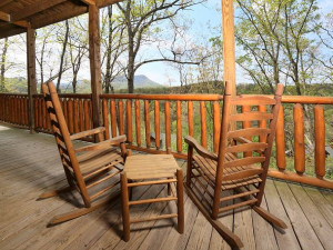 Rental deck at Smoky Mountain Resort Lodging and Conference Center.