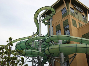 Exterior view of Water Park of America.