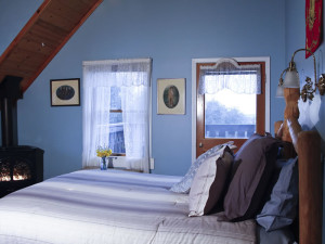 Guest room at Fitzpatrick Winery & Lodge.