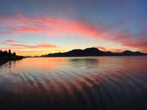 Sunrise at Valhalla Lodge.
