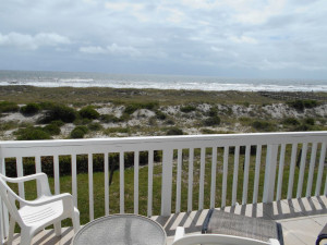 Rental balcony view at Amelia Island Rentals, Inc.