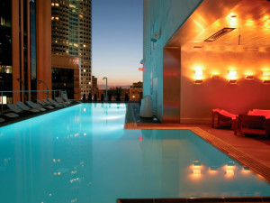 Outdoor pool at The Standard, Downtown LA.