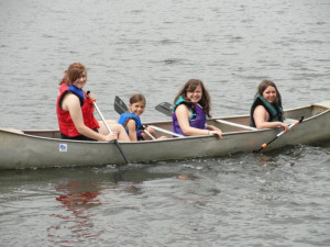 Canoeing at Evergreen Lodge.