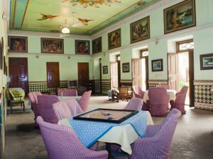 Lounge at Piramal Haveli.