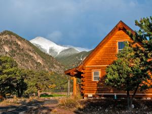 Cabin exterior at Mt. Princeton Hot Springs Resort.