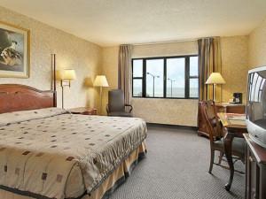 Guest room at Ramada Inn Lake Shore - Chicago.