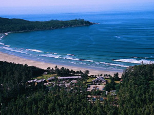 Aerial View of Pacific Sands Beach Resort
