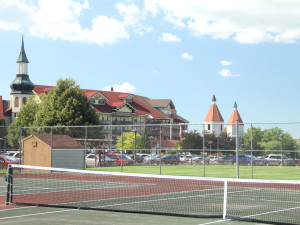 Tennis court at Bavarian Inn of Frankenmuth.