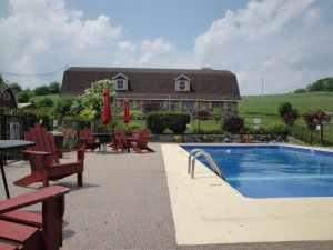 Outdoor pool at Fieldstone Farm.