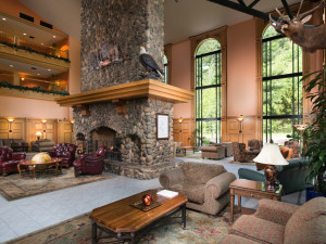 Lobby at Bonneville Hot Springs Resort & Spa.