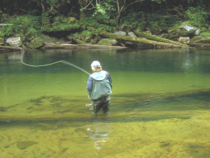Fly Fishing at Blackfish Lodge