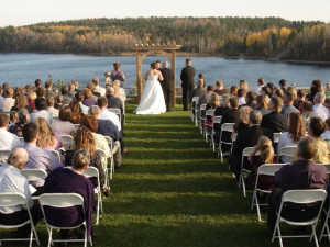 Wedding ceremony at Giants Ridge Golf and Ski Resort.