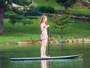Paddle boarding at  Lake Junaluska Conference & Retreat Center.