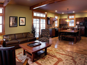 Vacation rental interior at Crystal Mountain Resort and Spa.